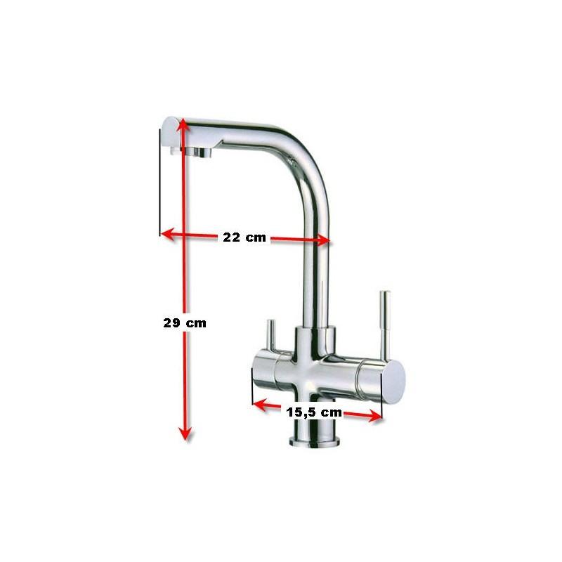 grifo 3 vias para osmosis inversa
