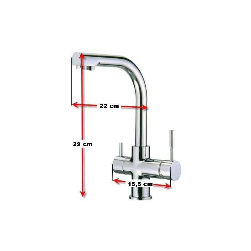 Osmosis inversa compacta nt03 mas grifo de 3 vias for Grifo osmosis 3 vias