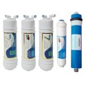 Jeux 4 filtres + membrane 50 GPD osmose inverse compatible CS