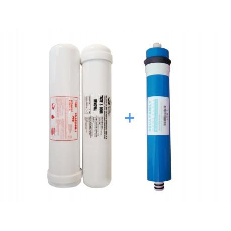 Juego 4 filtros osmosis inversa compacta