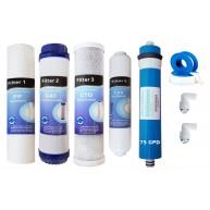 Kit OFERTA membrana 75 GPD + 4 filtros osmosis inversa MOON75