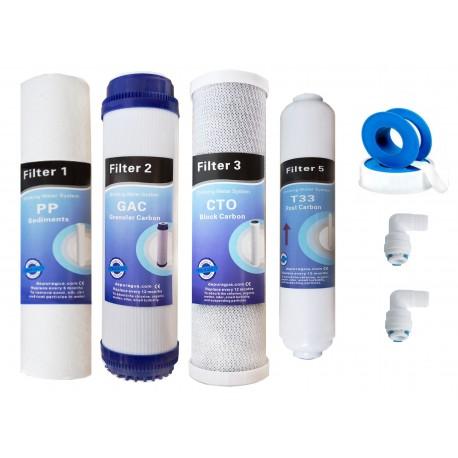 Juego 4 filtros osmosis inversa