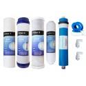 Jeux 4 filtres + membrane 50 GPD osmose inverse compatible STORM , proline